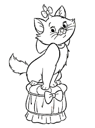 Disney Marie Cat Coloring Pages 12