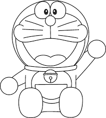 Smiling Doraemon Coloring Pages Free