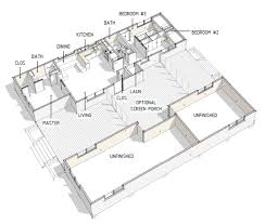 100 Modern Dogtrot House Plans Style Plan 3 Beds 2 Baths 976 SqFt Plan 460