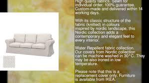 soferia ikea ektorp pixbo 3 seat sofa bed cover nordic white