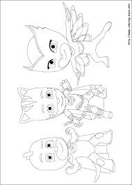 Pj Masks Coloring Pages Black And White Fresh Logo