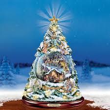 Thomas Kinkade Christmas Tree Cottage by Thomas Kinkade Silent Night Nativity At Ocean Treasures