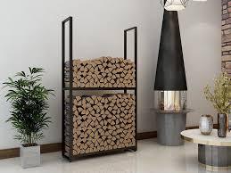 montixx kaminholzregal montixx metall kaminholzregal brennholzregal feuerholzregal kaminholzständer kaminholzhalter brennholz 47002 bxtxh 45x25x100