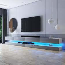 selsey tv lowboard hylia weiß matt grau hochglanz mit led beleuchtung 2x140 cm breit