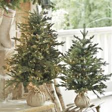 Interior Wintry Pine Slim Artificial Christmas Tree And Slim
