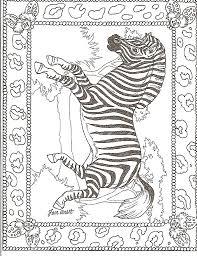 Lion Framed Zebra Coloring Page