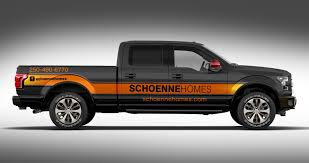Create A Truck Wrap For Ford F150 Schoenne Homes | Truck Graphics ...