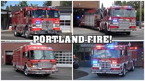 100 Fire Trucks Youtube 12 Min PORTLAND FIRE RESCUE FIRE TRUCKS RESPONDING