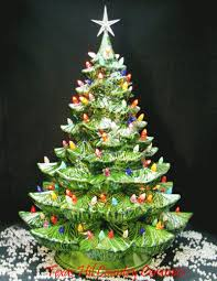 Clear Bulbs For Ceramic Christmas Tree by Giant Ceramic Christmas Tree 24 Inches Tall Green Tree Colorful