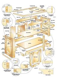 desk woodworking plans desk