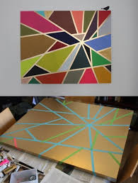 Colorful Tape DIY Canvas