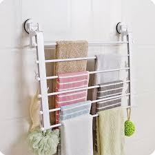 multi schicht falten handtuchhalter mit clip unterwäsche socken wäscheständer saugnapf wand handtuchhalter bad accessoires handtuch halter
