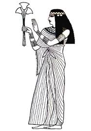 Ancient Egypt An Royal Women In Linen Cloth Coloring Page