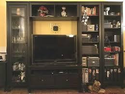 ikea hemnes regal regalwand tv möbel kombination massivholz