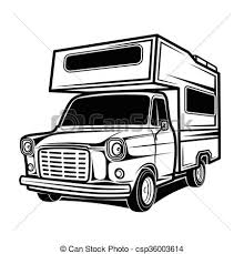 Rv Cars Recreational Vehicles Camper Vans Caravans Vector