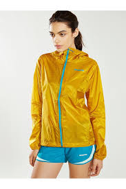 patagonia alpine houdini jacket in yellow lyst