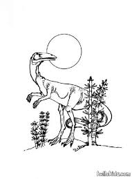 Prehistoric Carnivor Dinosaur Coloring Page