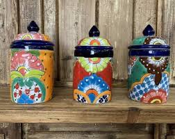 Ceramic Kitchen Canister Sets Ceramic Kitchen Canisters Etsy
