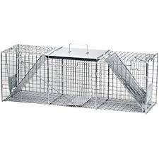 live cat trap havahart 1045 live animal two door raccoon stray cat