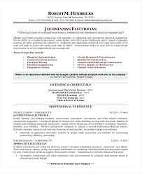 Sample Resume As Electrician With Examples Electricians Samples Journeyman For