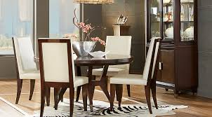 Cindy Crawford Home Philadelphia Chocolate 5 Pc Round Dining Room