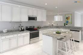 Modern White Kitchen Interior 3d Rendering Stockfoto Und Artstation 3d Rendering Of A Classic White Kitchen Rayvat