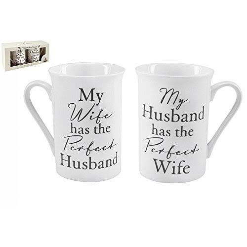 Perfect Wife/Husband Amore Gift Set - Pair of Mugs