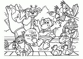 Zoo Animals Coloring Page For Kids Animal Pages Printables To Print