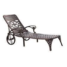 HOMESTYLES Biscayne Bronze Patio Chaise Lounge Fniture Incredible Wrought Iron Chaise Lounge With Simple The Herve Collection All Welded Cast Alinum Double Landgrave Classics Woodard Outdoor Patio Porch Settee Exterior Cozy Wooden And Metal Material For Lowes Provance Summer China Nassau 3pc Set With End Nice Home Briarwood 400070 Cevedra Sheldon Walnut Cane Rolling Chair C 1876