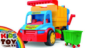 BIG Garbage Truck. WADER. Toy For Boy. ☺123abc Kids Toy TV - YouTube