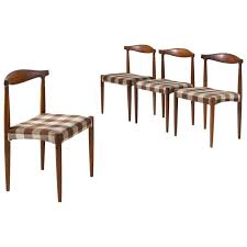 Set Of Four Danish Dining Room Chairs In Rosewood For Sale