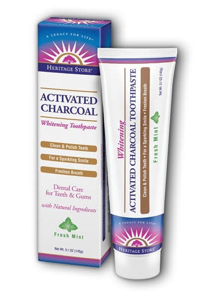 Heritage Activated Charcoal Whitening Toothpaste - Fresh Mint