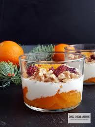 schichtdessert mit joghurt und mandarinen cakes cookies