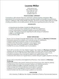 Resume Examples For Technicians Pharmacy Technician Description Best Of