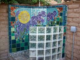 Tile Water Design Mosaic Aic Inground Swimming Stone Sussex Oasthouse Outdoor Pool Wall Art