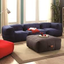 Living Room Frameless Cozy Bean Bag Style Sofa Set