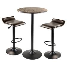 Winsome Wood Cora 3-Piece Round Pub Table W/ 2 Airlift Swivel Stools -  Walmart.com Costco Agio 7 Pc High Dning Set With Fire Table 1299 Best Ding Room Sets Under 250 Popsugar Home The 10 Bar Table Height All Top Ten Reviews Tennessee Whiskey Barrel Pub Glchq 3 Piece Solid Metal Frame 7699 Prime Round Bar Table Wooden Sets Wine Rack Base 4 Chairs On Popscreen Amazon Fniture To Buy For Small Spaces 2019 With Barstools Of 20 Rustic Kitchen Jaclyn Smith 5 Pc Mahogany Ok Fniture 5piece Industrial Style Counter Backless Stools For