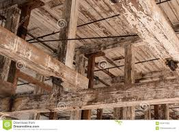 100 Rustic Ceiling Beams Wood In Old Warehouse Building Stock Photo Image Of