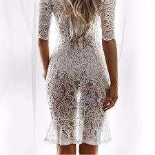 tengo brand women white lace dress summer night