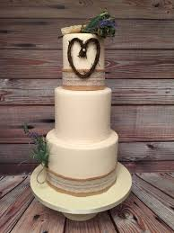 Rustic Hessian Wedding Cake