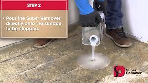 remover to remove carpet glue