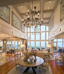 Contemporary Living Room By Architect High Ceiling Lighting Commercial Ideas Light Fixtures