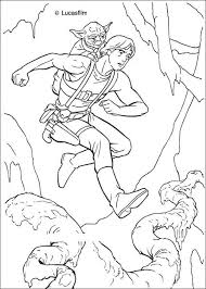 Luke Training With Yoda Coloring Page