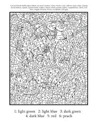 Advanced Color By Number Coloring Pages Adult Free Printable Paint Numbers For