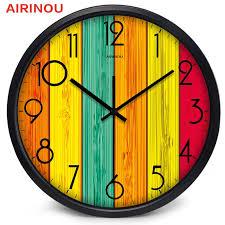 airinou regenbogen board design spaß welt große glas wanduhr wohnzimmer uhr
