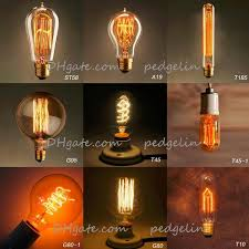 Wholesale Vintage Edison Bulb Clear Glass Light Bulbs 40W E27 Incandescent Silk Indoor Outdoor Decoration Retro Lights