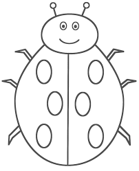 Bug Coloring Page Incridible Pages Ladybug Animals Pictures Free Printable