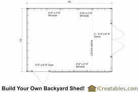 Saltbox Shed Plans 12x16 by 12x16 Gambrel Shed Plans 12x16 Barn Shed Plans