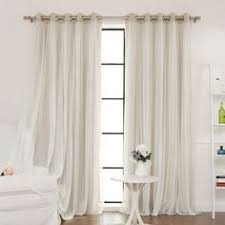 Crushed Voile Curtains Grommet by Aurora Home Mix And Match Blackout With Crushed Voile Sheer 4