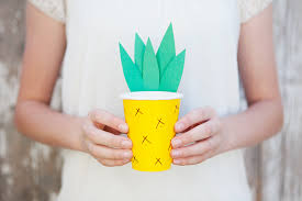 Easy Pineapple Paper Cup Craft For Kids